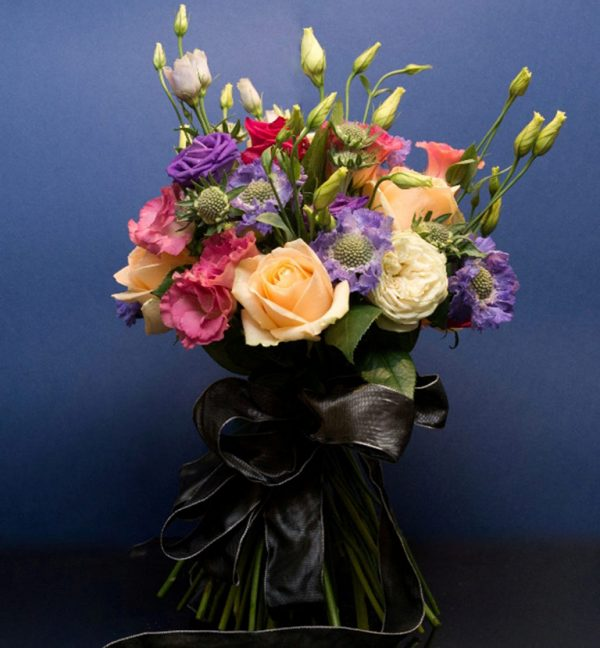 Rose, Lisianthus, and Scabious