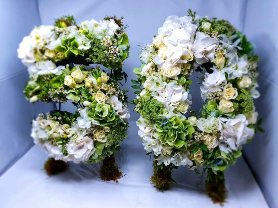 number with flower