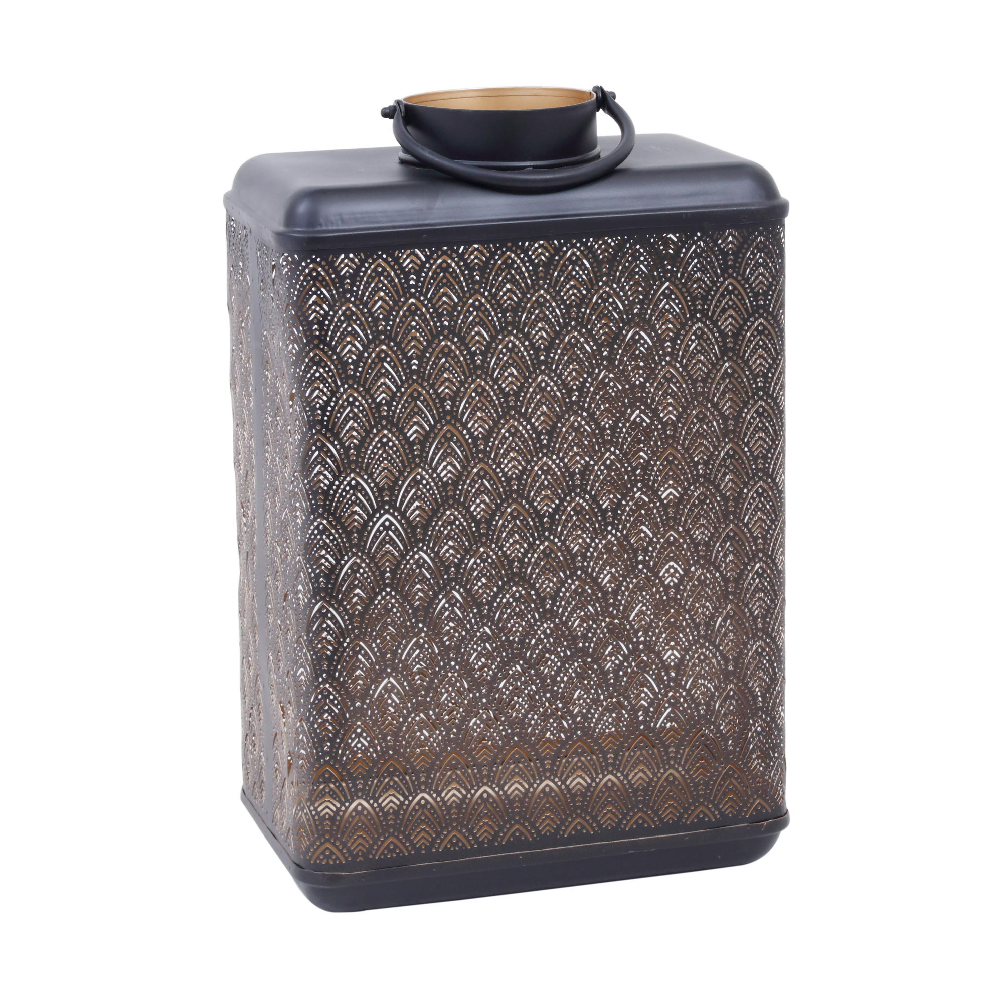 djevo black iron lantern gatsby votive rectangle large £125