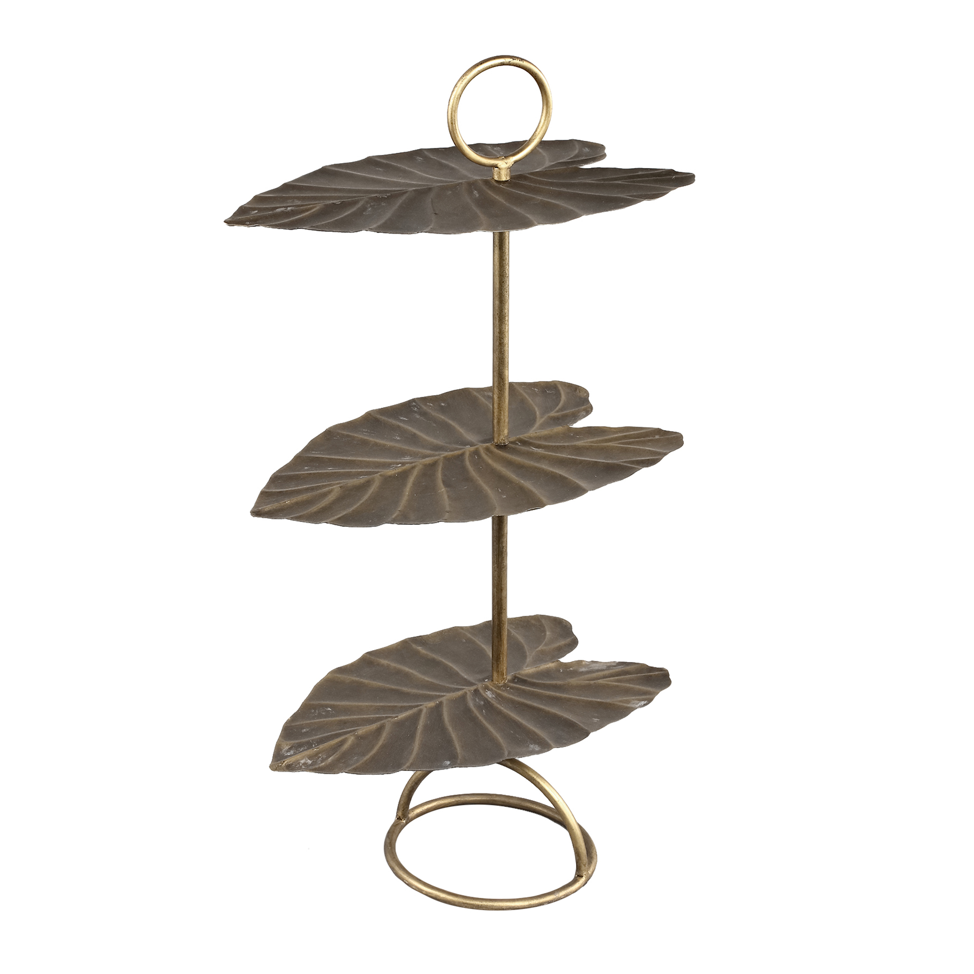 salient gold iron etagere 3 store leaf £110